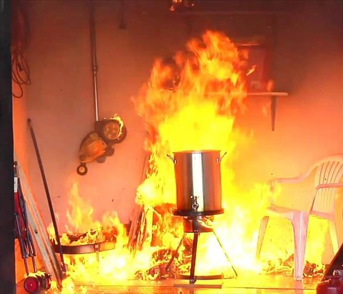 Fire Damage Deep Frying Turkey Safety Tips